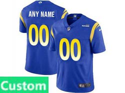 Mens Women Youth Nfl Los Angeles Rams 2021 Color Blue Custom Made Vapor Untouchable Limited Jersey