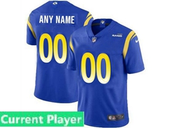 Mens Women Youth Nfl Los Angeles Rams 2021 Color Blue Current Player Vapor Untouchable Limited Jersey