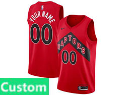 Mens Womens Youth 2021 Nba Toronto Raptors Custom Made Red Icon Edition Nike Swingman Jersey