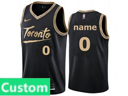 Mens Womens Youth 2021 Nba Toronto Raptors Custom Made Black City Edition Nike Swingman Jersey
