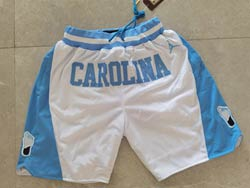 Mens Ncaa Nba North Carolina Jordan Brand White Just Don Pocket Shorts