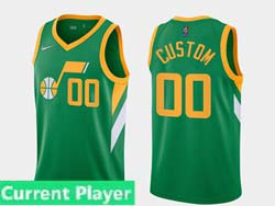Mens Women Youth 2021 Nba Utah Jazz Current Player Green Earned Edition Nike Swingman Jersey