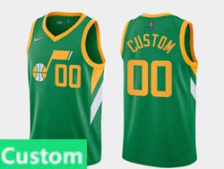 Mens Womens Youth 2021 Nba Utah Jazz Custom Made Green Earned Edition Nike Swingman Jersey