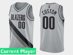 Mens Womens Youth 2021 Nba Portland Trail Blazers Current Player Gray Earned Edition Nike Swingman Jersey