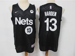 Mens 2021 Nba Brooklyn Nets #13 James Harden Black Earned Edition Swingman Nike Jersey
