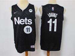 Mens 2021 Nba Brooklyn Nets #11 Kyrie Irving Black Earned Edition Swingman Nike Jersey