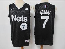 Mens 2021 Nba Brooklyn Nets #7 Kevin Durant Black Earned Edition Swingman Nike Jersey