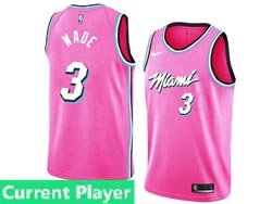 Mens Womens Youth Nba Miami Heat Current Player Pink Earned Edition Nike Swingman Jersey