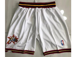 Mens Nba Philadelphia 76ers White Just Don No Pocket Shorts