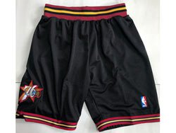 Mens Nba Philadelphia 76ers Black Just Don No Pocket Shorts