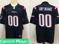 Mens Women Youth New England Patriots 2020 Blue Current Player Color Rush Vapor Untouchable Limited Jersey