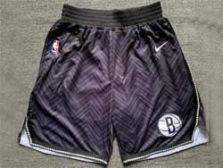 Mens Nba Brooklyn Nets Black Earned Edition Shorts