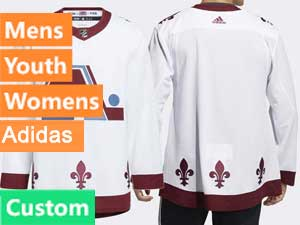 Mens Women Youth Mens Nhl Colorado Avalanche Custom Made White 2021 Reverse Retro Alternate Jersey
