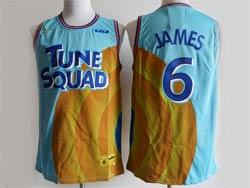 Mens Nba Space Jam Tune Squad #6 James Blue&yellow Nike Swingman Jersey