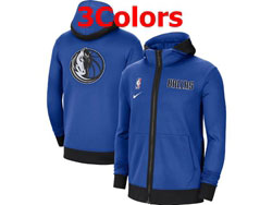 Mens Nba Dallas Mavericks Nike Training Clothes Zip Hoodie Jacket With Pocket 3 Colors