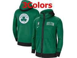 Mens Nba Boston Celtics Nike Training Clothes Zip Hoodie Jacket With Pocket 3 Colors