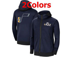 Mens Nba Utah Jazz Dark Nike Training Clothes Zip Hoodie Jacket With Pocket 2 Colors
