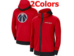 Mens Nba Washington Wizards Nike Training Clothes Zip Hoodie Jacket With Pocket 2 Colors