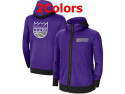 Mens Nba Sacramento Kings Nike Training Clothes Zip Hoodie Jacket With Pocket 2 Colors