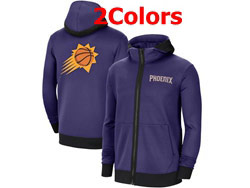 Mens Nba Phoenix Suns Nike Training Clothes Zip Hoodie Jacket With Pocket 2 Colors