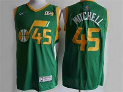 Mens Nba Utah Jazz #45 Donovan Mitchell Green 2021 Earned Edition Nike Swingman Jersey