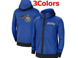 Mens Nba Orlando Magic Nike Training Clothes Zip Hoodie Jacket With Pocket 3 Colors