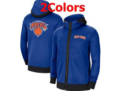 Mens Nba New York Knicks Nike Training Clothes Zip Hoodie Jacket With Pocket 2 Colors