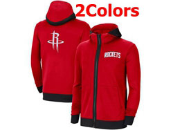 Mens Nba Houston Rockets Nike Training Clothes Zip Hoodie Jacket With Pocket 2 Colors