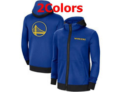Mens Nba Golden State Warriors Nike Training Clothes Zip Hoodie Jacket With Pocket 2 Colors
