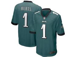 Mens Nfl Philadelphia Eagles #1 Jalen Hurts Green Nike Game Jersey