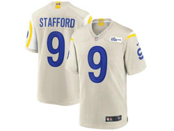 Mens Nfl Los Angeles Rams #9 Matthew Stafford White Nike Player Game Jersey