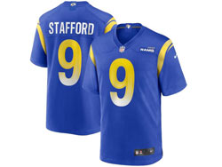 Mens Nfl Los Angeles Rams #9 Matthew Stafford Blue Nike Player Game Jersey