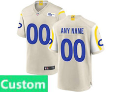 Mens Women Youth Nfl Los Angeles Rams White Custom Made Nike Game Jersey