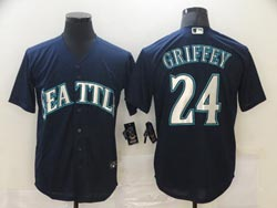 Mens 2021 Mlb Seattle Mariners #24 Ken Griffey Blue Cool Base Nike Jersey