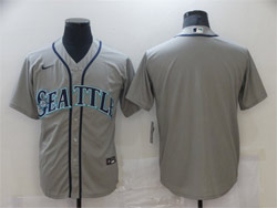 Mens Mlb Seattle Mariners Blank Gray Cool Base Nike Jersey