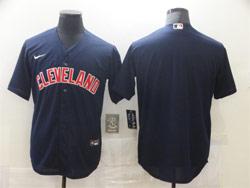 Mens Mlb Cleveland Indians Blank Dark Blue Cool Base Nike Jersey