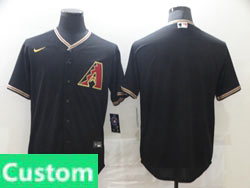 Mens Womens Youth Mlb Arizona Diamondbacks Custom Made 2020 Nike Black Cool Base Jersey