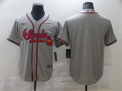 Mens Mlb Atlanta Braves Blank Gray Cool Base Nike Jersey