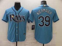 Mens Mlb Tampa Bay Rays #39 Kevin Kiermaier Light Blue Cool Base Nike Jersey
