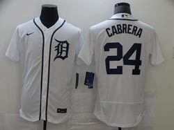 Mens Mlb Detroit Tigers #24 Miguel Cabrera White Flex Base Nike Jersey