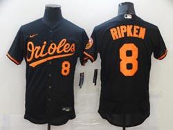 Mens Mlb Baltimore Orioles #8 Cal Ripken Black Flex Base Nike Jersey
