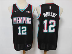 Mens Nba Memphis Grizzlies #12 Ja Morant Black With No Patch Nike Swingman Jersey