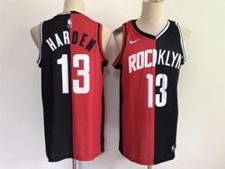 Mens Nba Brooklyn Nets &houston Rockets #13 James Harden 2021 Red&black Mvp Swingman Nike Jersey