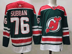 Mens Nhl New Jersey Devils #76 P.k. Subban Green 2021 Reverse Retro Alternate Adidas Jersey