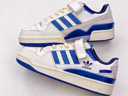 Mens And Women Adidas Forum 84 Low Og Bright Blue Running Shoes One Color