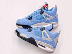 Mens And Women Air Jordan 4 Se University Blue Running Shoes One Color