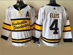 Mens Nhl Nashville Predators #4 Ryan Ellis White 2021 Winter Classic Adidas Jersey