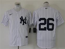 Mens Mlb Chicago White Sox #26 Avisail Garcia White Stripe Cool Base Nike Jersey No Name