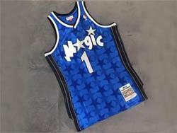 Mens Nba Orlando Magic #1 Tracy Mcgrady Blue 2000-2001 Mitchell&ness Hardwood Classics Swingman Jersey