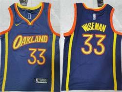 Mens 2021 Nba Golden State Warriors #33 James Wiseman Dark Blue Swingman Nike Jersey